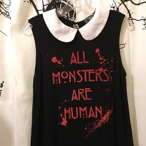 American Horror Story Collared Graphic Tank